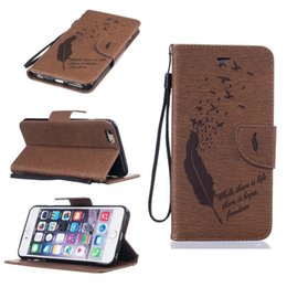 Wholesale For Iphone Plus S Plus SE S Ipod Touch Feather Bird Emboss Cover Fashion Wallet Leather Moto G4 Plus Pouch Flip Cover Strap