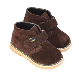 Wholesale New Arrival Handmade Toddler Little Kids Cowboy Boots Anti Suede Keep Warm Velvet Linning Anti slip Cold proof Years Old