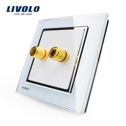 Wholesale Manufacturer Livolo New Style White Crystal Glass Panel Gang Home Wall Sound Acoustics Socket VL W291A