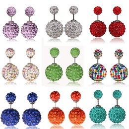 Popular New Female Casual Cheapest European Circle Stud Earrings Diamond Earrings for Women Girls Good Quality 10 Colors Earring