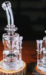 Wholesale New D K Brand glass bongs water pipe oil rig recycler feb egg bongs type bongs Best quality DHL