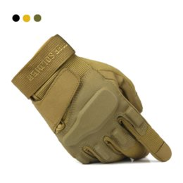 Wholesale 2016 New MECHANIX Army Military Tactical Gloves Outdoor Full Finger Motocycel Bicycle Mittens police Safety Glove