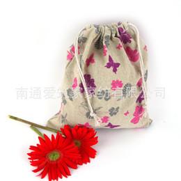 Wholesale Limited New Lapices Estuches School Pen Case Cotton Bags Cloth Tote Bag Butterfly Folding Drawstring cm Az