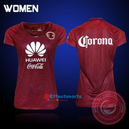 Wholesale Mexico club America women soccer jerseys best quality Mexico yellow red Real Madird woman Lady R SAMBUEZA soccer football Jersey