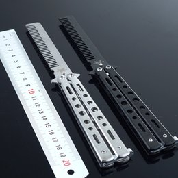 2 Style benchmade balisong butterfly flail knife trainer throwing knives Comb Folding Pocket Knife christmas gift for man