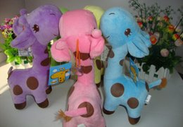 Free shipping wholesale Plush toy doll dolls toy birthday gift for children Giraffe toys 6 colors 18cm