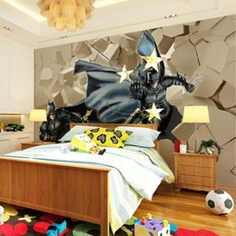 Wholesale 3D Batman stone wall wallpaper wallpaper indoor sofa background KTV tea bar manufacturers direct delivery speed