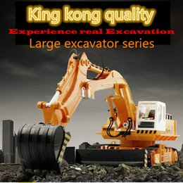 Wholesale 11 Channel Normal version excavator moving truck excavator RC toys kg Large RC car GHZ overclocking technique Living stones wireless