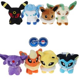 Wholesale Poke plush Styles cm plush toy Glaceon Leafeon Eevee Vaporeon Flareon Espeon Jolteon Umbreon stuffed doll Best gift