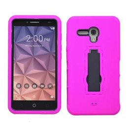 2016 Newest PC Silicone Cheap Defender Hybrid Cases Soft Hard Kickstand Back Cover for Alcatel Stellar Tru Alcatel Fierce 4 Pop 4 Case