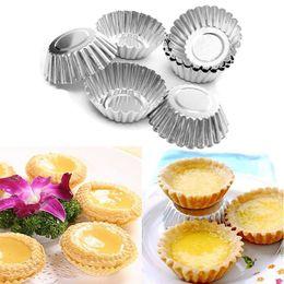 Wholesale 20Pcs Mini Metal Egg Tart Baking Mold Cupcake Bakeware Maker Kicthen Cooking Tools Accessories Supplies Gear Stuff Product