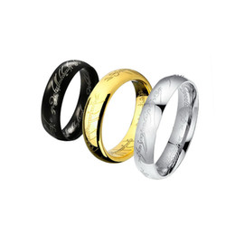 316L Stainless Steel Ring, 4mm Width Titanium Rings for Lovers