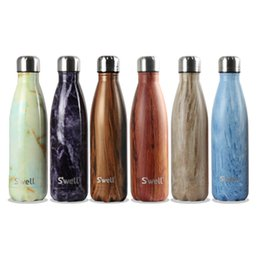 Wholesale swell logo mugs stainless cup couple starbucks stainless steel thermos metal vacuum bottle ml double wall stainless steel water bottles