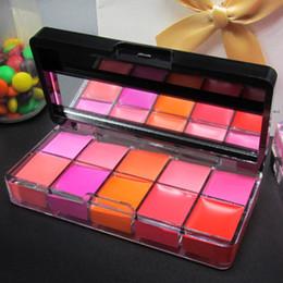 Wholesale Makeup Maquiagem Pro Colors Make Up Waterproof Beauty Long lasting Lip Gloss Baby Lips Lipstick Cream Palette Set