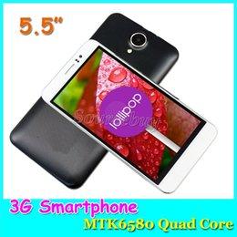 T5 DHL gratuit MTK6580 Quad-core 3G débloqué 5,5 pouces Android5.1 double Caméras mobile téléphone portable Smart-sillage GPS Google Play Store Smartphone à partir de double t5 fournisseurs