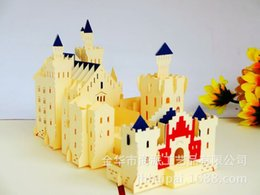 Wholesale Germany Swan Fort Originality Architecture Paper Engraving Air Three dimensional Greeting Card Can Come Picture Come Sample Customized
