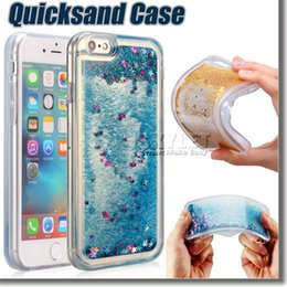 Wholesale Quicksand Case For Iphone D Liquid Case Soft TPU Floating Glitter Star Quicksand Case For Iphone Plus with OPP Package