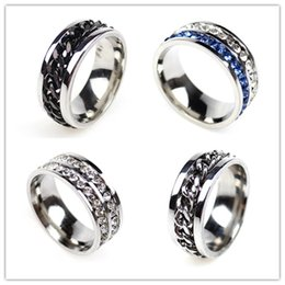 Sale by bulk, 36pcs box, Diamonds Titanium steel Ring, mix size:5-13, free shipping and high quality