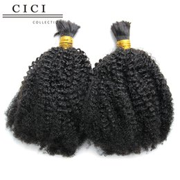 Wholesale Cici collection Unprocessed Human Hair For Braiding No Attachment kinky curly Brazilian Human Braiding Hair Bulk Afro curly