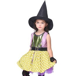 Halloween costume party birthday party performance suit magician clothes witch Harry Potter dress up shaman cute audience focus