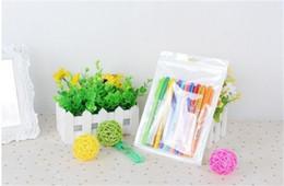 Wholesale 14*8cm White   Clear Self Seal Zipper Plastic Retail Packaging Bag, Ziplock Zip Lock Bag Retail Package W  Hang Hole