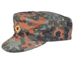 Wholesale GERMAN ARMY FLECKTARN CAMO MILITARY CAMOUFLAGE FIELD CAP HAT SIZE L