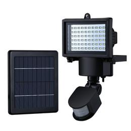 Free Shipping Outdoor Solar Power Garden Emergency Lights 60 LEDs PIR Body Motion Sensor Solar Floodlights Spotlights Lamps