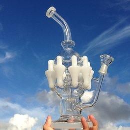 Acheter en ligne Gb pouces-Nouvelles conduites d'eau installations pétrolières tuyaux d'eau bongs percolator fumer avec 12,6 pouces articulation mâle 14mm (ES-GB-061-3)