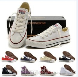 Wholesale 2016 original real converse low high shoes white black casual shoes converse all star shoes women men canvas lovers women men