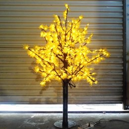 636 LEDs 5ft Height LED Maple Tree LED Christmas Tree Light Waterproof 110 220VAC RED Yellow Color Outdoor Use Free Shipping