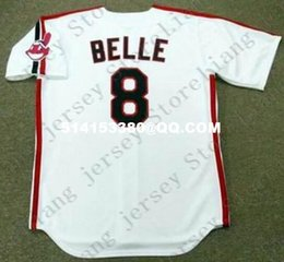 Wholesale Deluxe Edition Retro ALBERT BELLE Baseball Jersey Throwback Gray Mens Stitched Jerseys