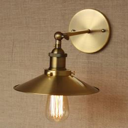 Wholesale LOFT lamp discount lighting antique gold metal wall lamp industrial style adjust wall lamp for workroom Bathroom Vanity Lights