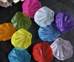 Wholesale 100pcs mm Beautiful Transparent Acrylic Leaf Beads With Hole For Hair Peice Tiaras Jewelry Scrapbooking Craft DIY