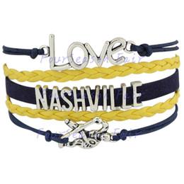 Custom-Infinity Love National Hockey League Nashville Predators Bracelet Ice Hockey Player Fans Adjustable Bracelet Bangles-Drop Shipping