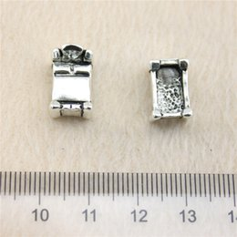 Wholesale 20Pcs mm antique Silver Tone3d Bed Charms Zinc Alloy DIY Handmade Jewelry Pendants