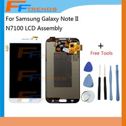 For Samsung Galaxy Note II N7100 LCD Screen & Digitizer Assembly N7105 i317 i605 L900 T889 R950 with Free Repair Tools