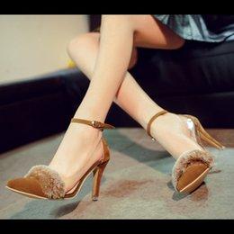 Wholesale Women shoes new heels dress shoes pumps Plush style fancy girls shoes b61