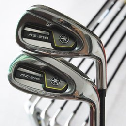 Wholesale New mens Golf clubs AZ Golf irons set P S clubs Graphite Golf shafts and Irons Grips clubs