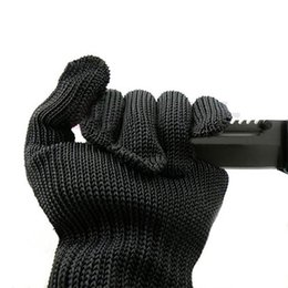 Wholesale kevlar Gloves Proof Protect Stainless Steel Wire Safety Gloves Cut Metal Mesh Butcher Anti cutting breathable Work Gloves