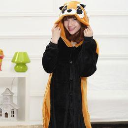 Maternity Clothing Cartoon Animal Costume Racoon Onesies Pajamas Adult Kigurumi Pyjamas Unisex Pijamas sleepwear party Dress