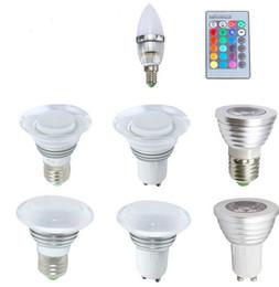 E14 GU10 E27 RGB LED Bulb Light Spot Lamp 16 Colors Changing Bubble 3W with IR Remote Controller for Home Decorate 110V 220V 240V CE ROSH