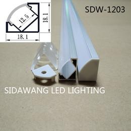 Wholesale 10M set led aluminium profile for led bar light led strip corner aluminum channel waterproof aluminum housing SDW