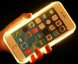 Wholesale LED Light Selfie shockproof Phone Case for iPhone PLUS S plus s plus Luminous Phone Cover with Retail Package