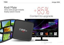 Wholesale T95M k smart tv Kodi android tv boîte Amlogic S905 WIFI XBMC installé Android Quad Core Mali Affichage LED