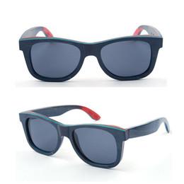 Wholesale 2016 best selling natural handmade wood sunglasses recycled skateboard wood sunglasses unisex UV400 polarized wood eyeglasses
