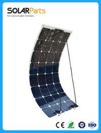 Solarparts 1PCS 100W гибкие солнечные панели солнечных батарей 12V / модуль / система RV / автомобиль / морской / лодка зарядное устройство LED Sunpower свет комплект от Поставщики р.в. комплекты солнечных панелей
