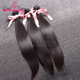 Greatremy® 3pcs lot 9A Indian Hair Extensions Dyeable Human Hair Weft Weave UNPROCESSED Virgin Silky Straight