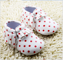 New Hot Sale 2016 Polka Dots Baby First Walker Shoes Infant Boys Girls Soft Bottom Shoes Toddler Fashion Cotton Shoes 6pairs lot