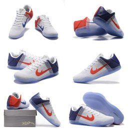 (With shoes Box) Free Shipping High Quality Kobe 11 XI Bryant 11 White Gym Red Violet Men Basketball Sport Sneakers Shoes