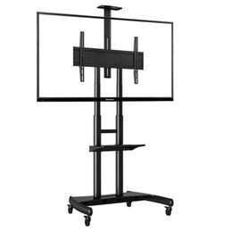 High quality NB AVA1800-70-1P 55-80 inch TV Mount Trolley LED LCD Plasma TV Cart with AV Shelf and Camera Tray